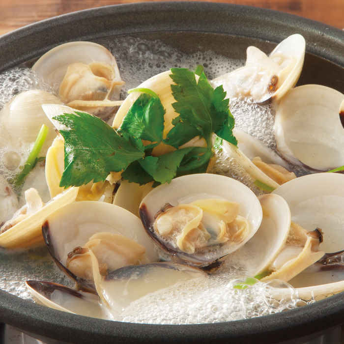 Steamed clam pot