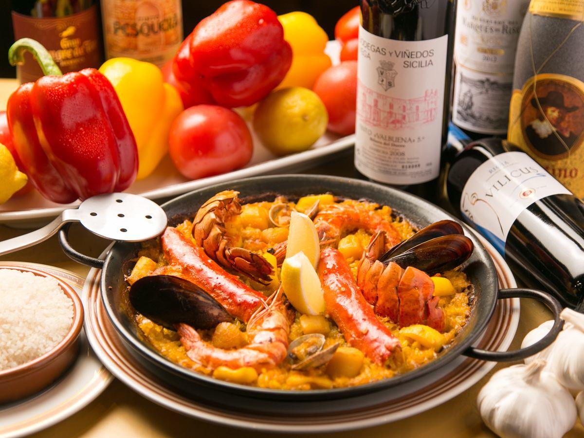 本格スペイン料理と情熱と感動のフラメンコライブが楽しめる店