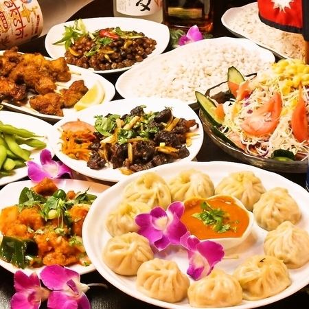 本格ネパール料理を多数ご用意♪