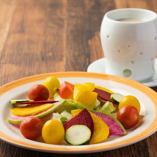新鮮野菜のバーニャカウダサラダ