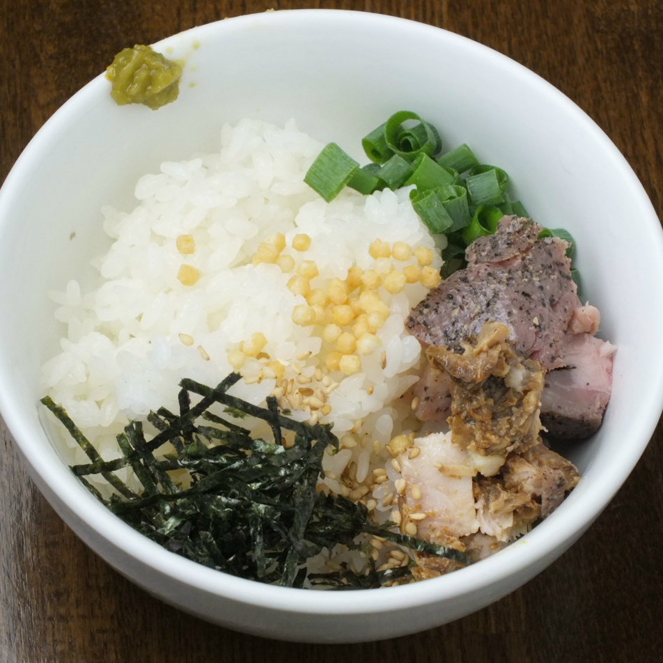 Chicken soba noble cooking (220 yen for single item, 900 yen for set with Ramen)
