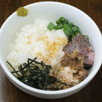 鶏そば雑炊(単品220円、+ラーメンを付けるとセットで900円)