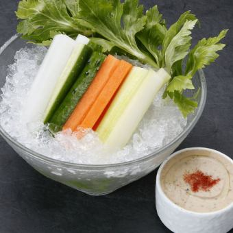 Specialty dip vegetable stick