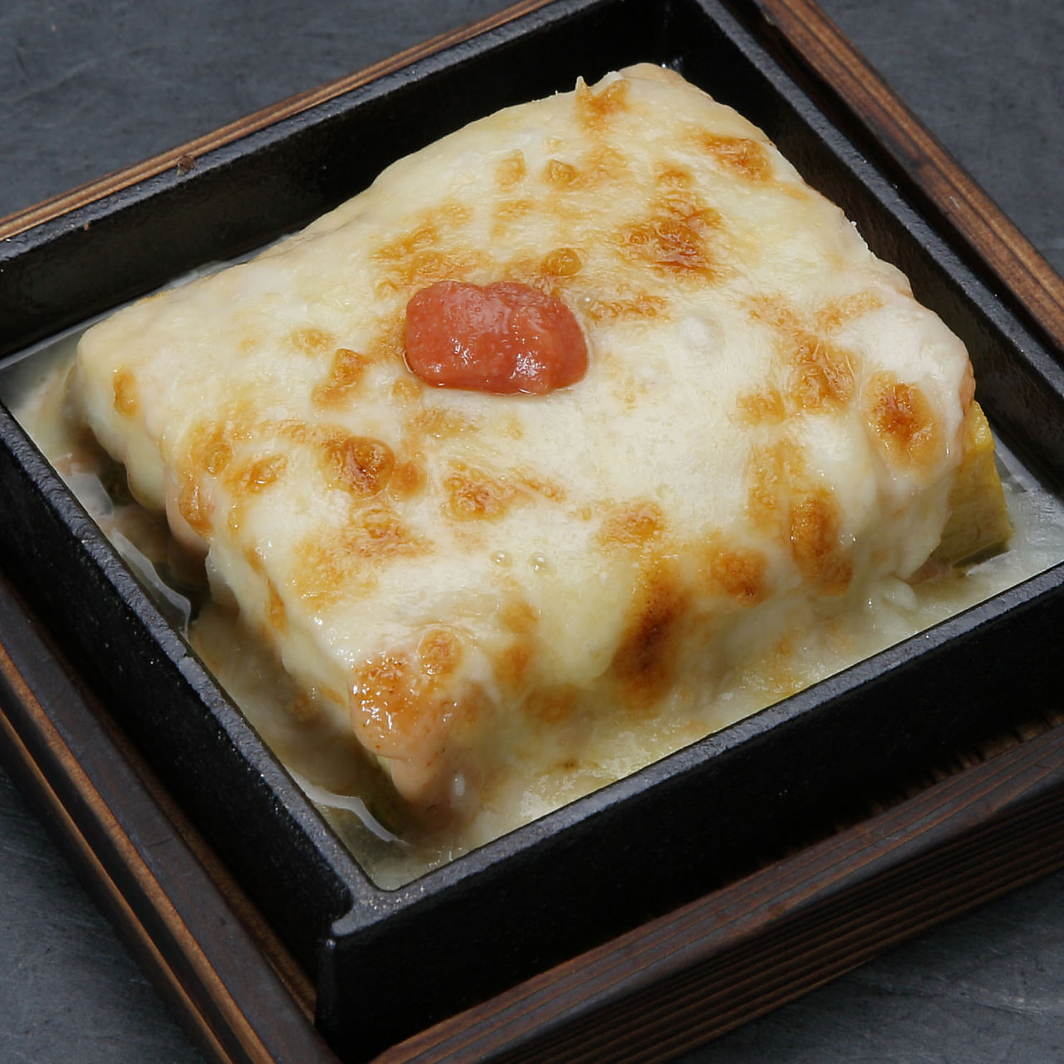 Soup rolled wisteria cheese