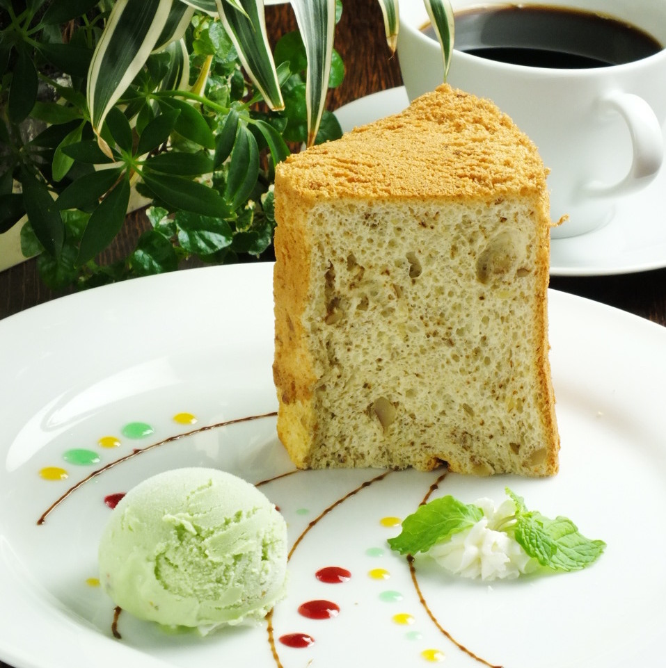 Today's chiffon cake ~ Ice with ~