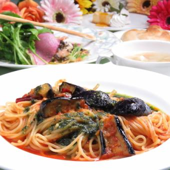 【Weekday lunch limited】 Pasta lunch course to choose from 5 types ⇒ 1500 yen