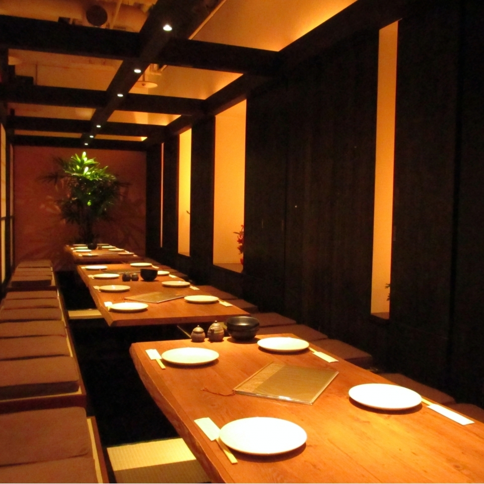 Private room with Japanese style in the inside of ethnic style shop!