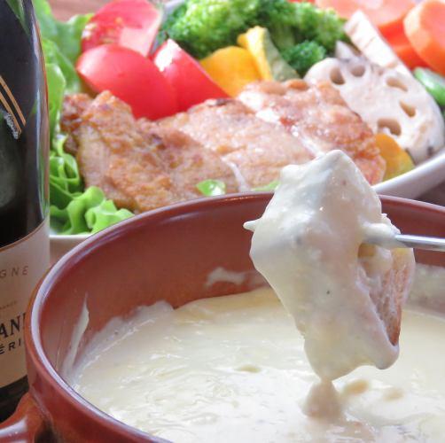 鲜鱼生牛肉片和奶酪火锅课程
