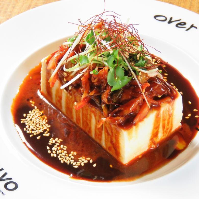 韓國風格的涼拌豆腐