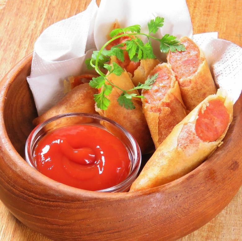 Chorizo spring roll