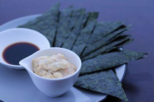 エビとアボカドクリームチーズ