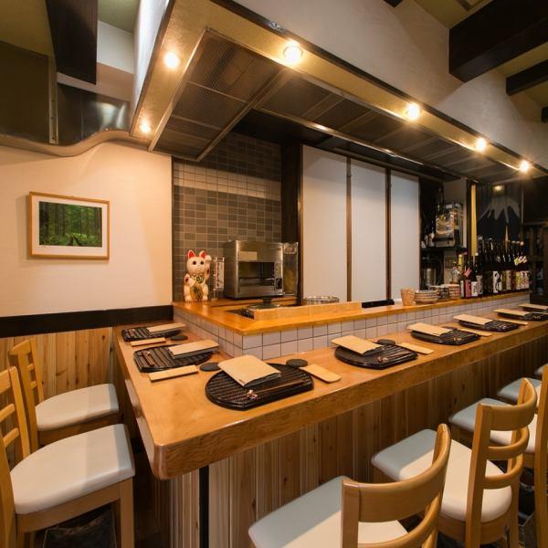 一個期待已久的櫃檯座位◎靠近sanomatsu所有者的距離近,♪我將熱情地每件商品送一件♪你可以單獨使用它,晚餐和成人約會♪烹飪當然也是一個空間和氛圍請也享受★