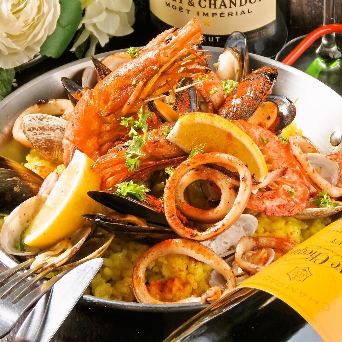 海鲜肉菜饭
