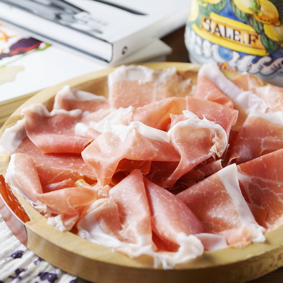 12 months aged from Parma non-pressed raw ham