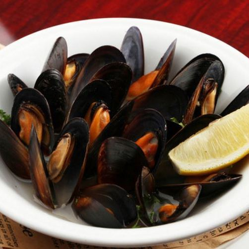 Mussel wine steamed