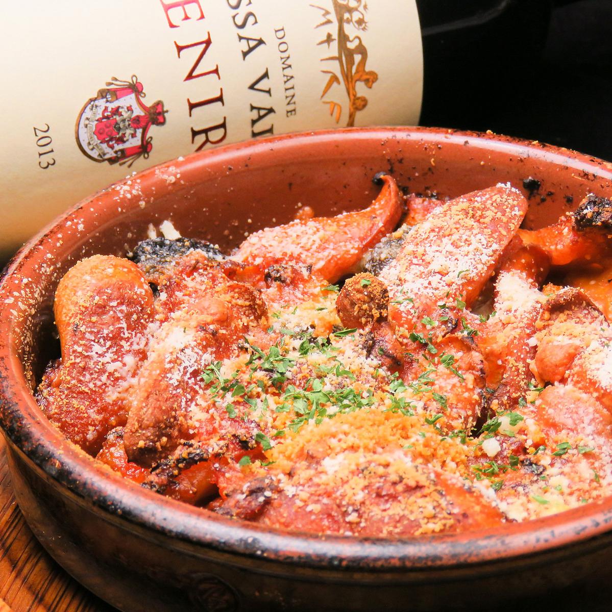牛肉蜂蜜和香肠炖西红柿