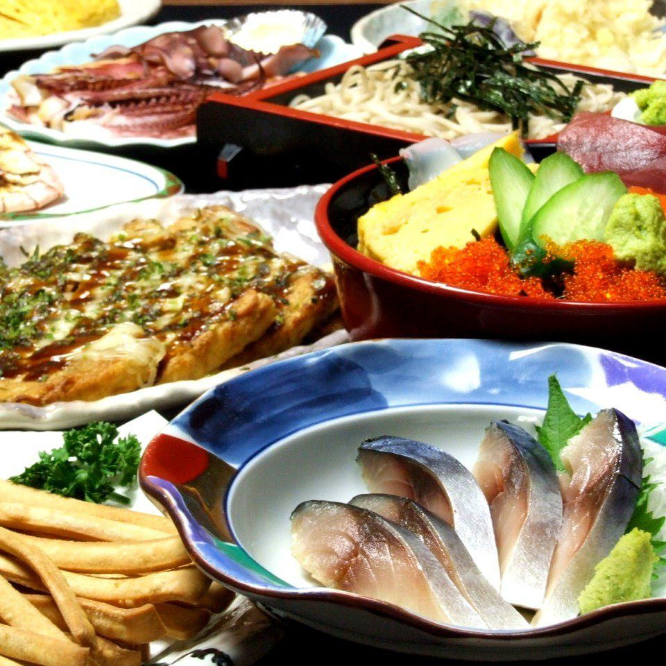 """Craftsman's handmade dishes and drinks can be enjoyed reasonably! Tsutsu is """"soba"""" !!"""