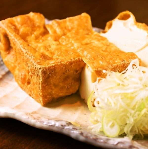 [30 years and is loved by everyone in the Minato-ku] ~ signboard menu homemade deep-fried tofu ~