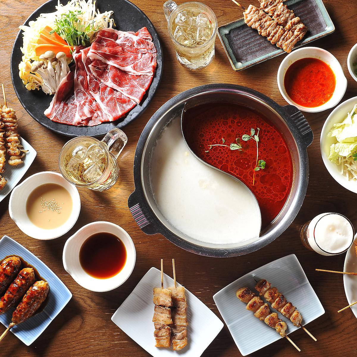 All-you-can-eat barbecue barbecue, skewer deep-fried shabu-shabu