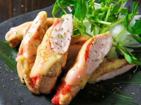 明太鱼片烤奶酪