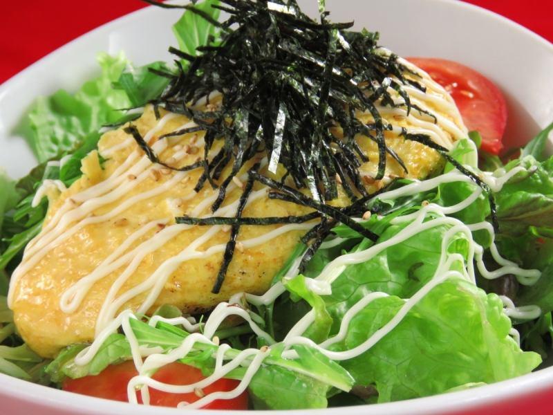 把日式沙拉晴天桶的房子 - 软煮鸡蛋 -