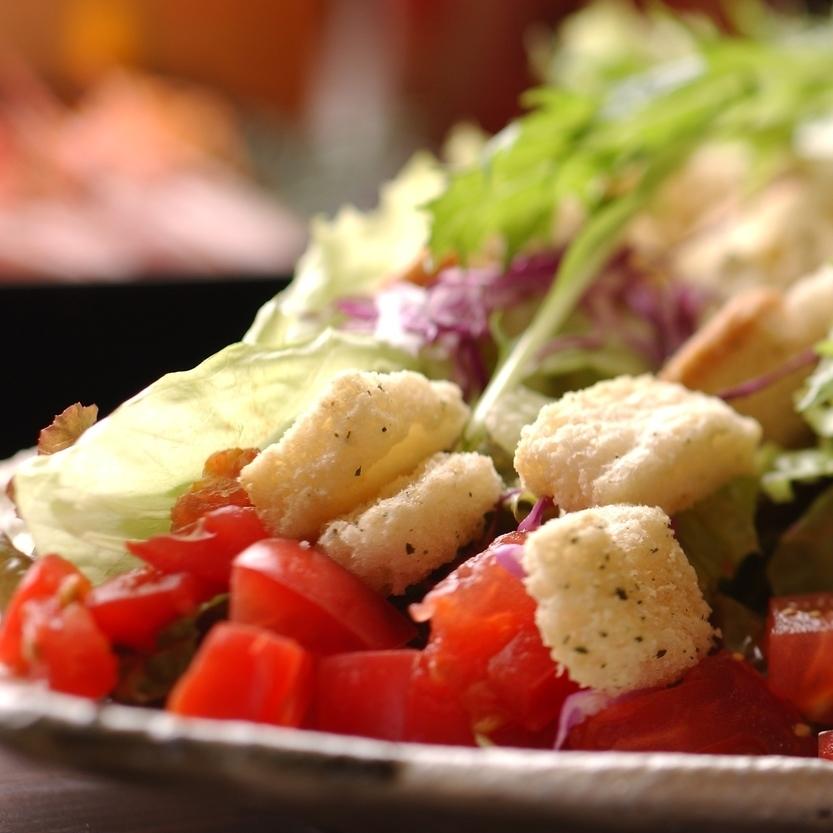 高知野菜でシーザーサラダ