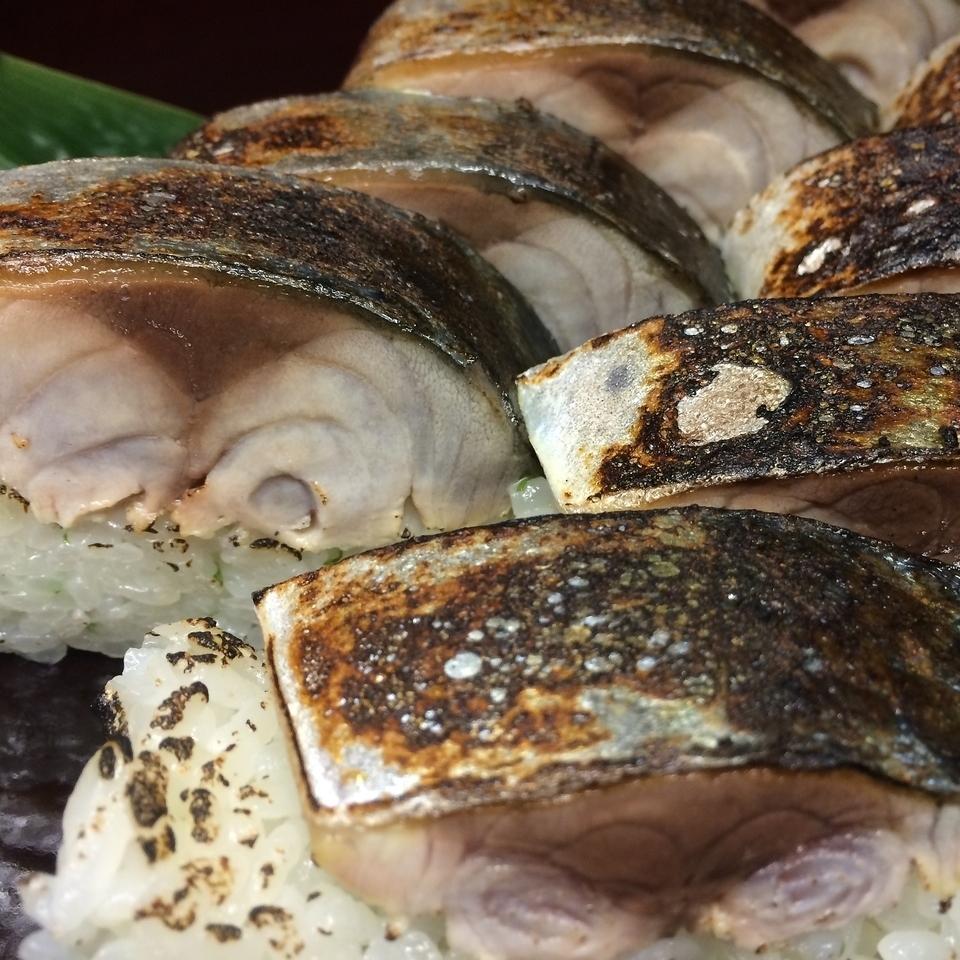 サバの炙り棒寿司