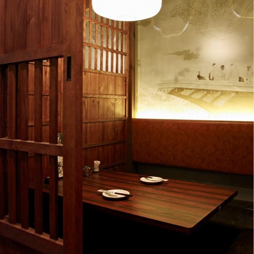 3F…接待・食事会にお薦めの4名様用掘りごたつ個室。県外の方へのおもてなしにも最適。