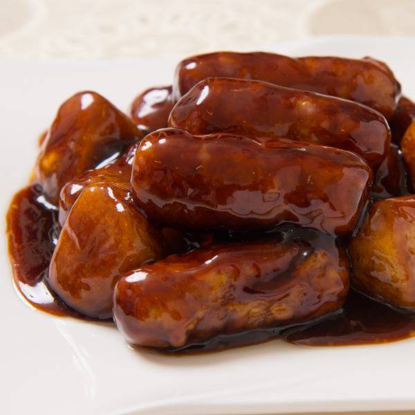 «Hospitality and popularity with family!» About 90 kinds of à la carte dishes are chosen, enjoyable party ♪ Sweet and sour pork with black vinegar with yams 2400 yen