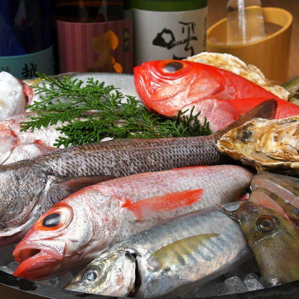 鮮魚在市場上!