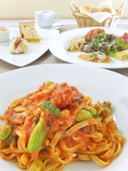 Homemade hand-made pasta is limited to 20 days a day !! Pasta lunch 1150 yen ~