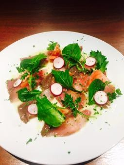 Today arrival of fresh fish carpaccio