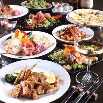 이탈리아 요리의 좋은 모습을 가지고! ◆ 표준 코스 90 분 음료 뷔페 포함 4000 엔 (세금 포함)