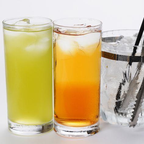 ウーロンハイ&抹茶ハイがな・な・なんと440円(*^^)v一杯飲んでも安心の値段設定♪