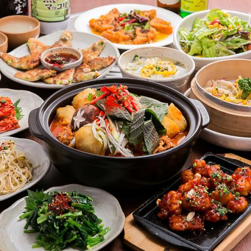 """[HP Limited] 7 dishes with a pot """"Lunch Banquet Course"""" Coupon Price 2500 yen (excluding tax)"""