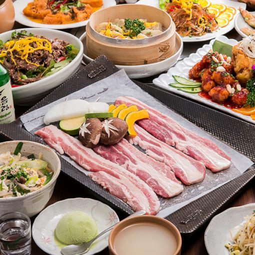 "[HP 한정】 냄비 된 요리 9 종 ""점심 연회 코스""쿠폰 가격 3500 엔 (세금 별도)"