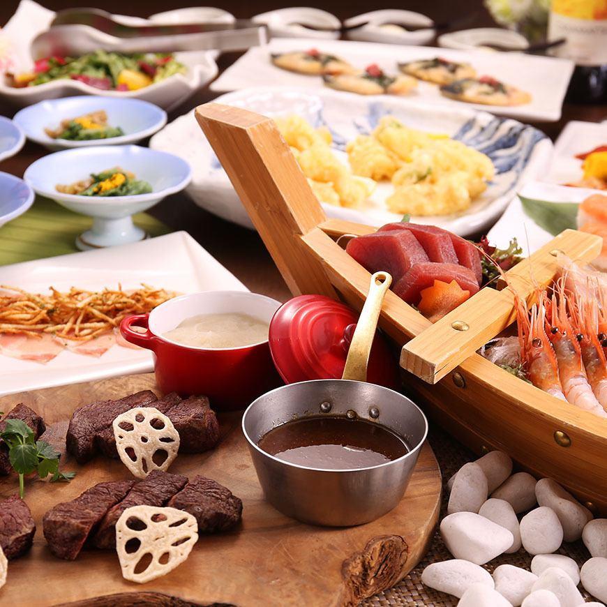[在私人房間完成]推薦特別10種豪華鮭魚套餐