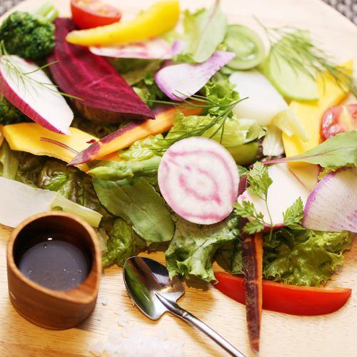 北の大地の恵み!北海道産旬野菜のサラダ