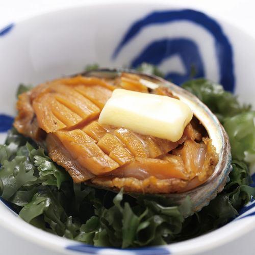 エゾアワビのバター醤油焼き