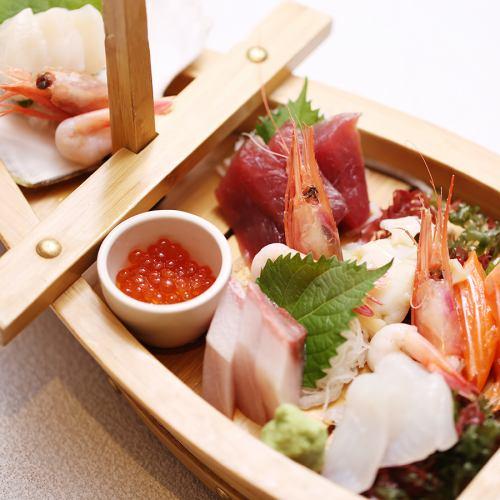 本日の新鮮鮮魚!お造り舟盛り