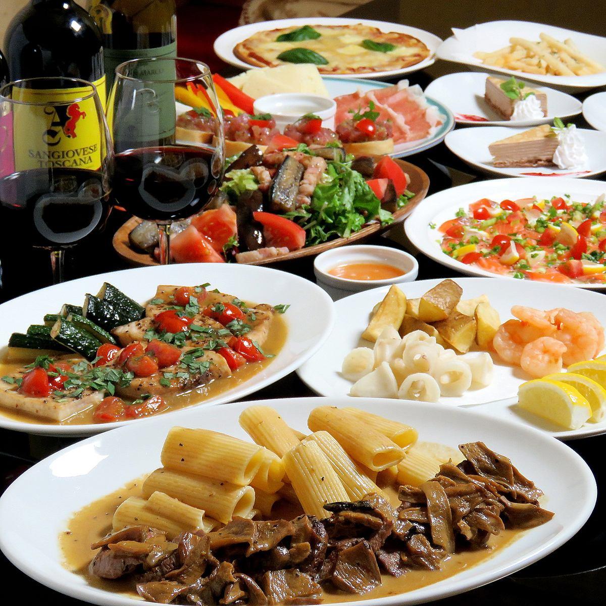 【7月14日OPEN】シックな雰囲気でお酒と食事を楽しむ…。本格イタリアンを低価格で