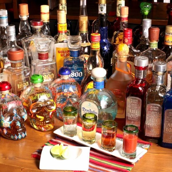 【Tequila of commitment】 We offer a wide selection of tequila items! Offer with salt, lime and sunglasses ★