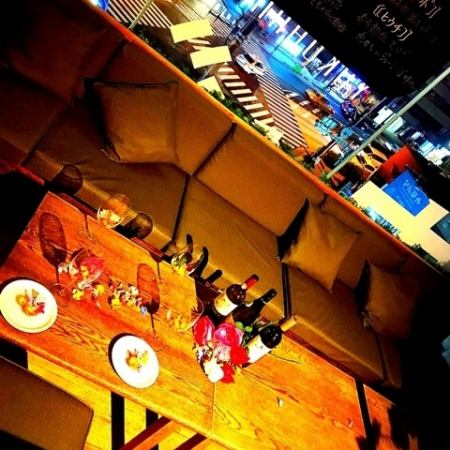 ★ ripened meat × raw pasta ★ Seats with night view are recommended for dating!