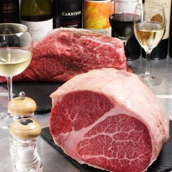 【肉喜欢的Enoteca Bon课程】«牛肉片×生面食»8项2小时饮用,附3980日元