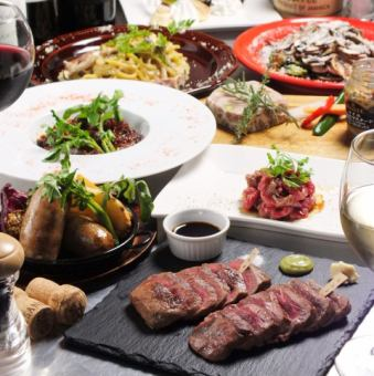 【Luxurious Sanctuary Special Course】 Luxury of Aged Meat Sanjo All 8 Items 2 Hours with All-you-can-eat All-you-can-e-mail 5980 yen