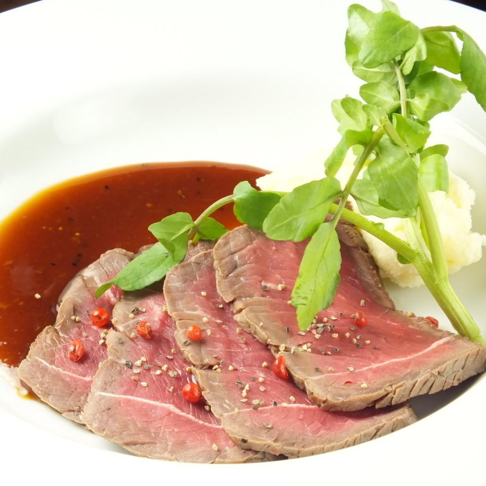 150克牛肉片(香醋醬)