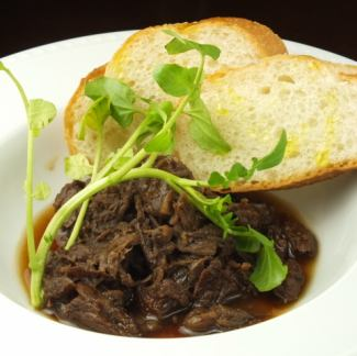 Simmered beef stew with aged meat