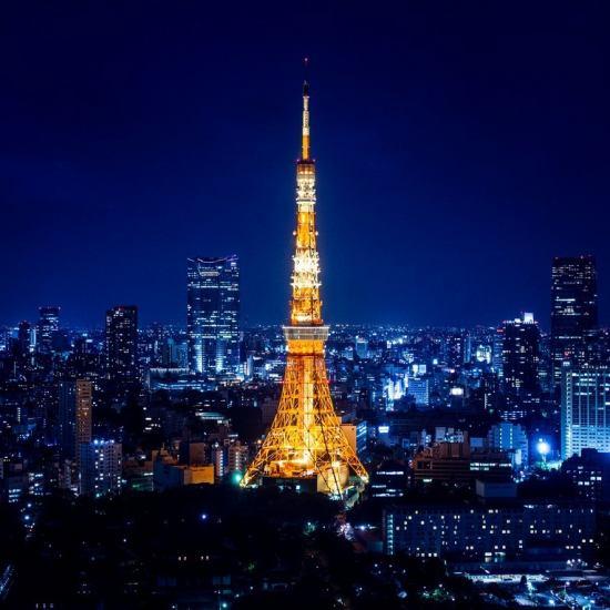 六本木のど真ん中で東京タワーを眺めながら素敵なひと時をお過ごししてくください!