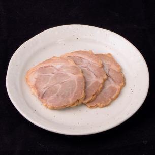 3 pieces of pork