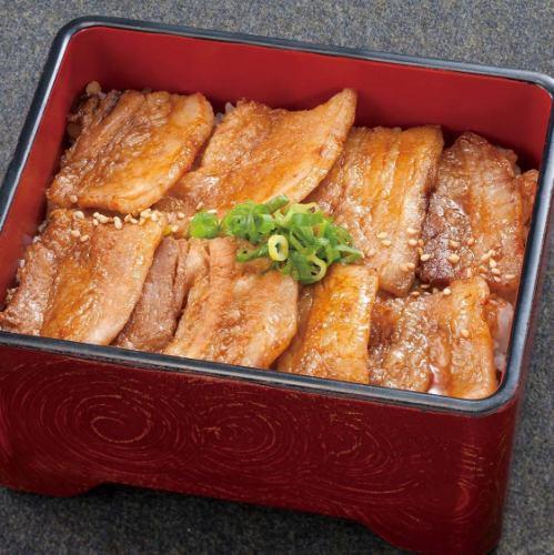 米の娘豚の黒糖たれ焼き重